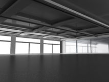 Empty dark abstract concrete room interior architecture backgrou. Nd. 3d render illustration Royalty Free Stock Photos