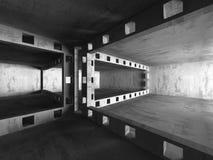 Empty dark abstract concrete room interior architecture. Background. 3d render illustration stock illustration