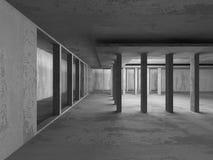 Empty dark abstract concrete room interior architecture. Background. 3d render illustration vector illustration
