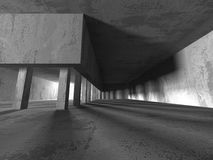 Empty dark abstract concrete room interior architecture. Background. 3d render illustration royalty free illustration
