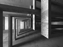 Empty dark abstract concrete room interior architecture. Background. 3d render illustration Stock Image