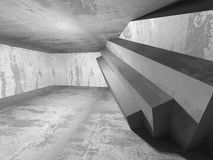 Empty dark abstract concrete room interior architecture. Background. 3d render illustration Stock Photos
