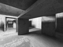 Empty dark abstract concrete room interior architecture. Background. 3d render illustration Stock Photo