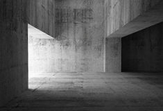 Empty dark abstract concrete room interior. 3d illustration Stock Photography