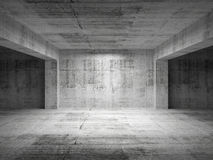 Empty dark abstract concrete room
