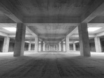 Empty dark abstract industrial underground concrete interior. 3d illustration Stock Images