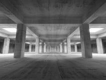 Empty dark abstract industrial underground concrete interior. 3d illustration royalty free illustration