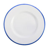 Empty dark blue plate Royalty Free Stock Photography