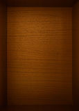 Empty dark brown wood box as background Royalty Free Stock Photo
