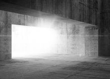 Empty dark concrete interior with light Royalty Free Stock Images