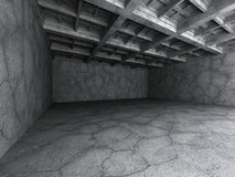 Empty dark concrete room interior. Architecture background Stock Photos