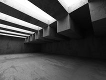 Empty Dark Concrete Room Interior Architecture Background. 3d Render Illustration Stock Images