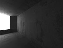 Empty dark concrete room interior. Architecture urban backgroun. D. 3d render illustration Stock Photography