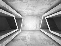 Empty dark concrete room interior. Architecture urban background Royalty Free Stock Image