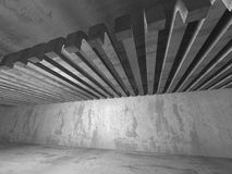 Empty dark concrete room interior. Architecture urban background Royalty Free Stock Photography