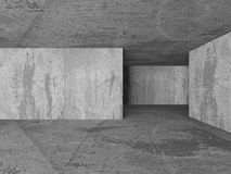 Empty Dark Concrete Room Interior Background. 3d Render Illustration Royalty Free Illustration