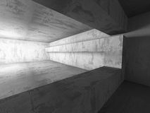 Empty Dark Concrete Room Interior Background. 3d Render Illustration Royalty Free Stock Images