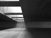 Empty Dark Concrete Room Interior Background. 3d Render Illustration Stock Photos