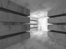 Empty Dark Concrete Room Interior Background. 3d Render Illustration Stock Photography