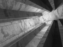 Empty dark concrete room interior corner. 3d render illustration Royalty Free Stock Photo