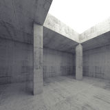 Empty dark concrete room interior with opening Royalty Free Stock Photos