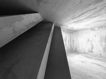 Empty dark concrete room interior. Urban modern architecture bac. Kground. 3d render illustration Stock Photo