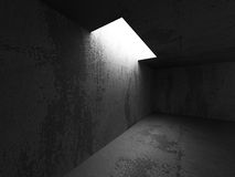 Empty dark concrete walls room interior. Abstract architecture b Royalty Free Stock Photography