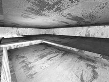 Empty dark concrete walls room interior. Abstract architecture b Royalty Free Stock Images