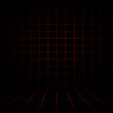Empty Dark Red Digital Graph with Black vignette Studio well use Royalty Free Stock Image