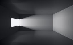 Empty dark room. An empty room seen from above Stock Image