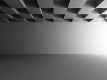 Empty Dark Room Design Background Stock Photo