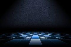Empty dark scene with spotlight on blue background Royalty Free Stock Photo