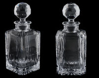 Empty decanter Royalty Free Stock Photography