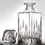 Empty decanter. On gray ground Stock Photo