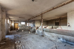Empty, decaying, old barn - Poland Royalty Free Stock Photography