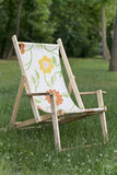 Empty deck chair Royalty Free Stock Photo