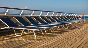 Empty Deck chairs royalty free stock image