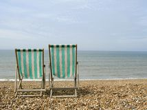 Empty deck chairs Royalty Free Stock Photos