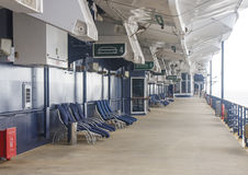 Empty Deck on Cruise Ship Stock Images