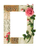 Empty decorative picture frame isolated. On white background Royalty Free Stock Photo