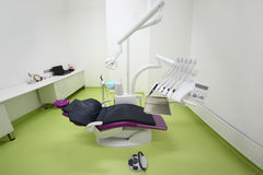 Empty dental clinic. Chair for patient Stock Photo