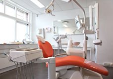 Empty dental room royalty free stock photo