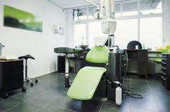 Empty dental room. Interior of new empty dental room royalty free stock photography