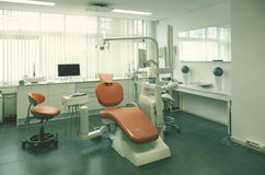 Empty dental room. Interior of new empty dental room stock photo