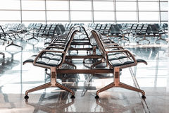 Empty departure lounge at the airport Stock Photos