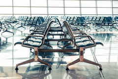 Empty departure lounge at the airport Royalty Free Stock Photography