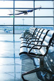 Empty departure lounge at the airport Stock Photography