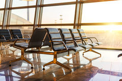 Empty departure lounge at the airport Royalty Free Stock Image