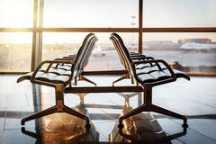 Empty departure lounge at the airport Stock Photo