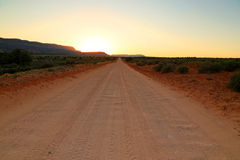 Empty desert dirt road. Stock Photography